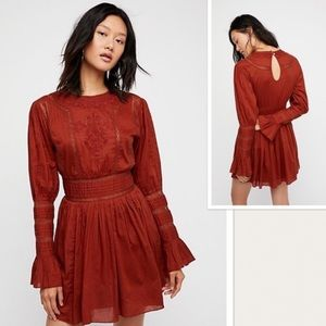 NWT Free People victorian waisted mini dress